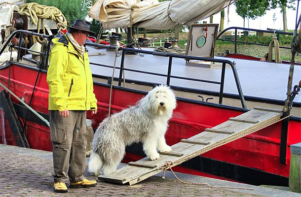 Belle op boot