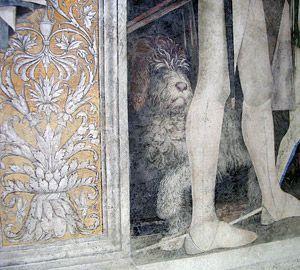 De wandschildering in Volta Mantova